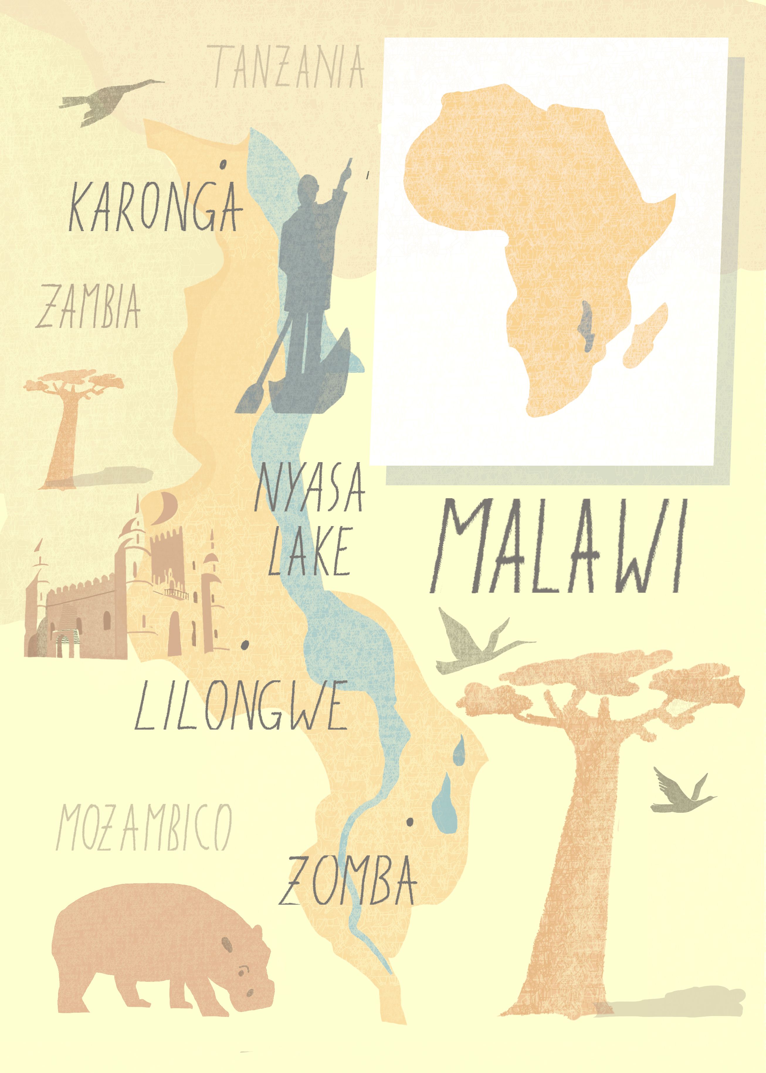 Malawi - mappa
